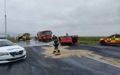 Harður árekstur við gatnamót Eyrarbakkavegar og Gaulverjabæjarvegar laugardaginn 29.júlí 2019